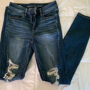 American Eagle High Waisted Jegging size 4 long